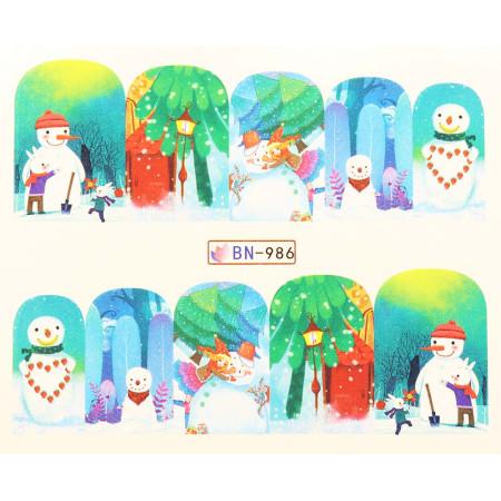 Vianočná vodolepka X-mas BN986 NechtovyRAJ.sk - Daj svojim nechtom všetko, čo potrebujú