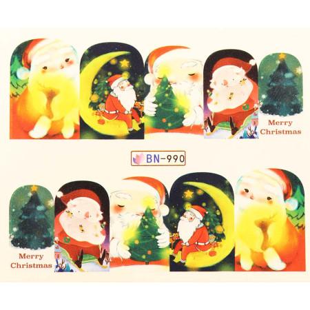 Vianočná vodolepka X-mas BN990 NechtovyRAJ.sk - Daj svojim nechtom všetko, čo potrebujú