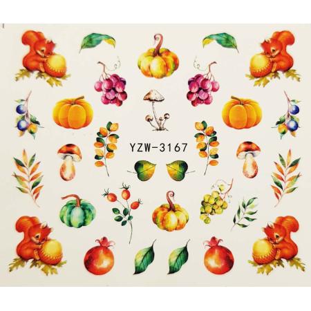 Vodonálepky na nechty jeseň YZW-3167