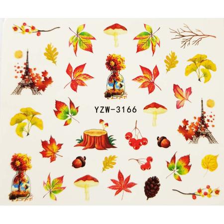 Vodonálepky na nechty jeseň YZW-3166