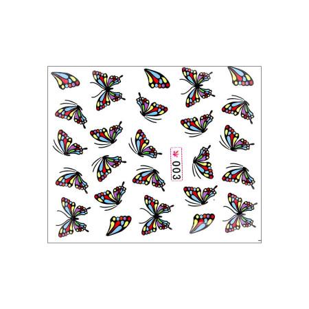 Vodonálepky na nechty motýle 003 NechtovyRAJ.sk - Daj svojim nechtom všetko, čo potrebujú