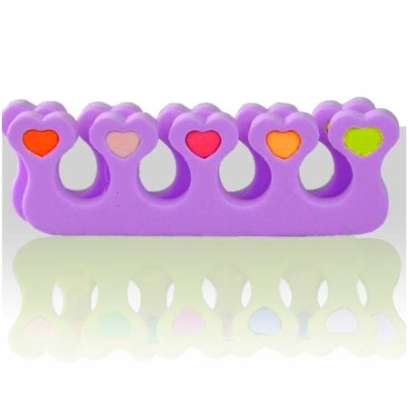 Rozdeľovač prstov fialový - pár NechtovyRAJ.sk - Daj svojim nechtom všetko, čo potrebujú