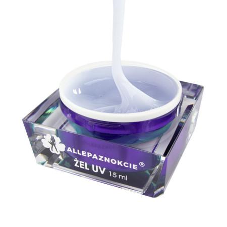 Stavebný uv gél Jelly Pearl White Glitter 15 ml