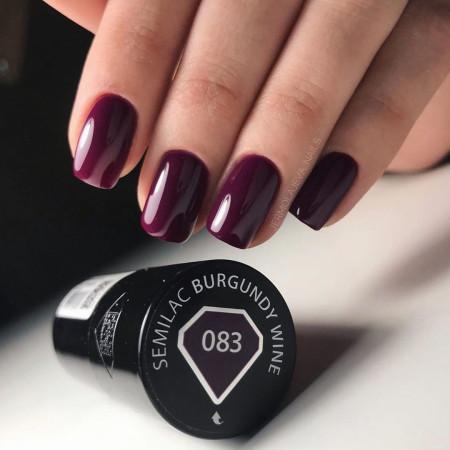 Semilac - gél lak 083 Burgundy Wine 7ml NechtovyRAJ.sk - Daj svojim nechtom všetko, čo potrebujú