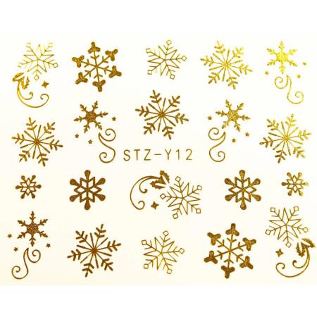 Vodonálepky na nechty STZ-Y12 zlatá NechtovyRAJ.sk - Daj svojim nechtom všetko, čo potrebujú