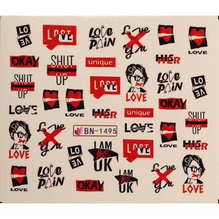 Vodonálepky LOVE BN-1495