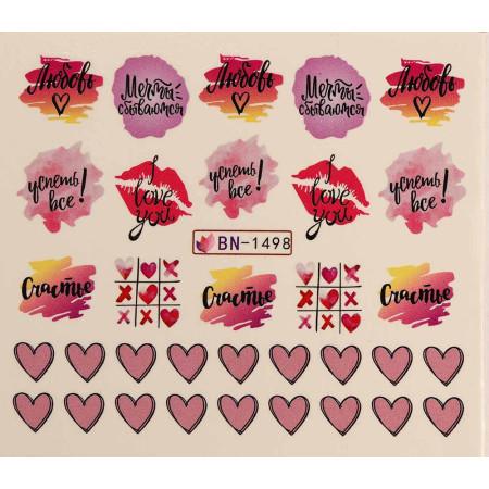 Vodonálepky LOVE BN-1498