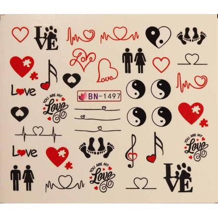 Vodonálepky LOVE BN-1497