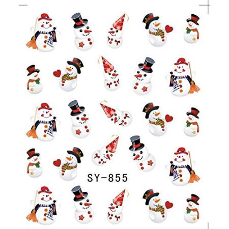 Vianočná vodolepka X-mas SY-855 NechtovyRAJ.sk - Daj svojim nechtom všetko, čo potrebujú