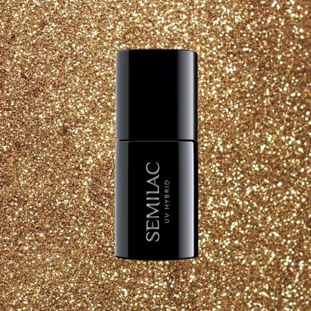 Semilac - gél lak 339 Gold Glitter 7ml NechtovyRAJ.sk - Daj svojim nechtom všetko, čo potrebujú
