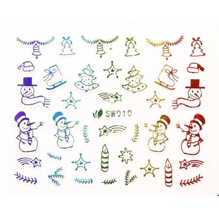 3D nálepky na nechty- vianočný motív SW010 NechtovyRAJ.sk - Daj svojim nechtom všetko, čo potrebujú
