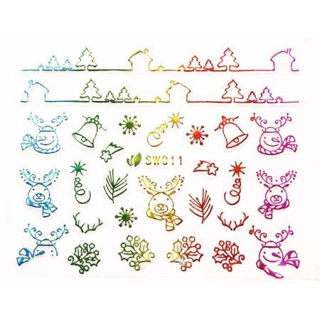 3D nálepky na nechty- vianočný motív SW011 NechtovyRAJ.sk - Daj svojim nechtom všetko, čo potrebujú