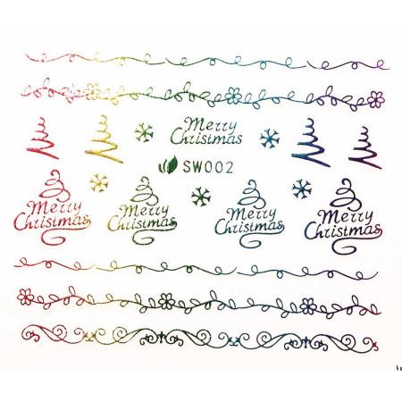 3D nálepky na nechty- vianočný motív SW002 NechtovyRAJ.sk - Daj svojim nechtom všetko, čo potrebujú