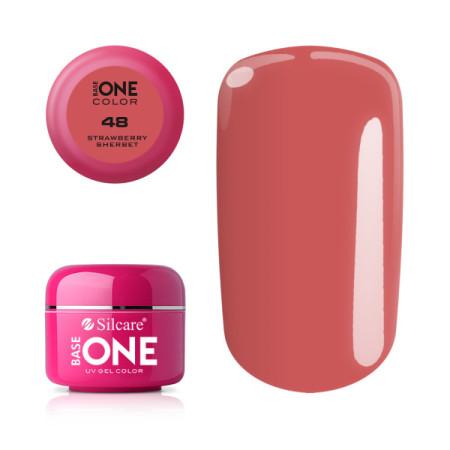 Silcare Base One Farebný UV gél 48 strawberry sherbet 5 g NechtovyRAJ.sk - Daj svojim nechtom všetko, čo potrebujú