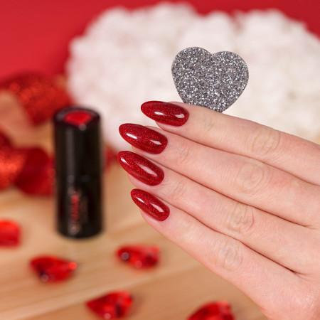 Semilac - gél lak 347 Pretty Red Glitter 7ml NechtovyRAJ.sk - Daj svojim nechtom všetko, čo potrebujú