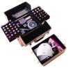 Dvojdielny kozmetický kufrík - 3D holo ružový NechtovyRAJ.sk - Daj svojim nechtom všetko, čo potrebujú