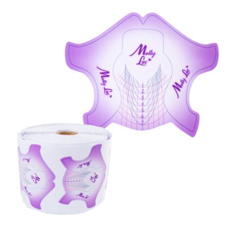 Šablóny na nechty Molly Premium fialové 500ks NechtovyRAJ.sk - Daj svojim nechtom všetko, čo potrebujú