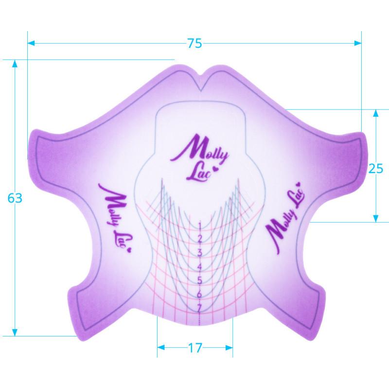 Šablóny na nechty Molly Premium fialové 100ks NechtovyRAJ.sk - Daj svojim nechtom všetko, čo potrebujú