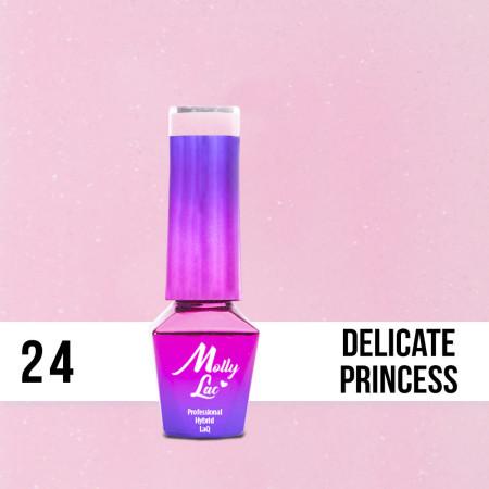 24. MOLLY LAC gél lak - DELICATE PRINCESS 5ML