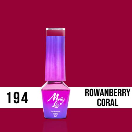 194. MOLLY LAC gél lak - ROWANBERRY CORAL 5 ml