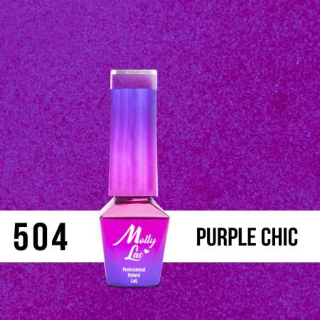 504. MOLLY LAC gél lak Bling it on! Purple Chic 5ml NechtovyRAJ.sk - Daj svojim nechtom všetko, čo potrebujú