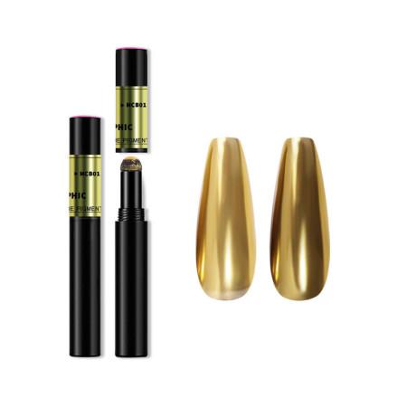 Zdobiace leštiace pero Mirror Magic pen - zlaté 2 NechtovyRAJ.sk - Daj svojim nechtom všetko, čo potrebujú