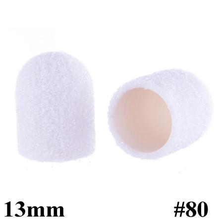 Brúsne klobúčiky biele 10ks zrnitosť 80 primer 13mm NechtovyRAJ.sk - Daj svojim nechtom všetko, čo potrebujú