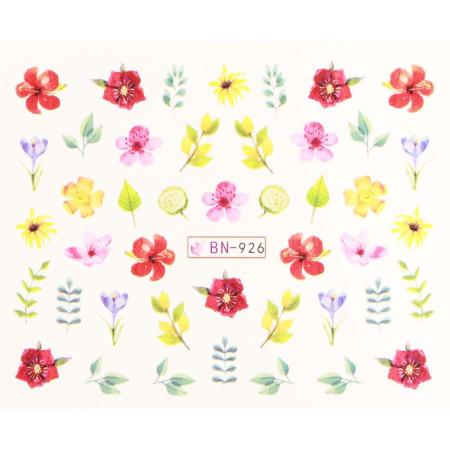 Vodonálepky s motívmi kvetov BN-926 NechtovyRAJ.sk - Daj svojim nechtom všetko, čo potrebujú