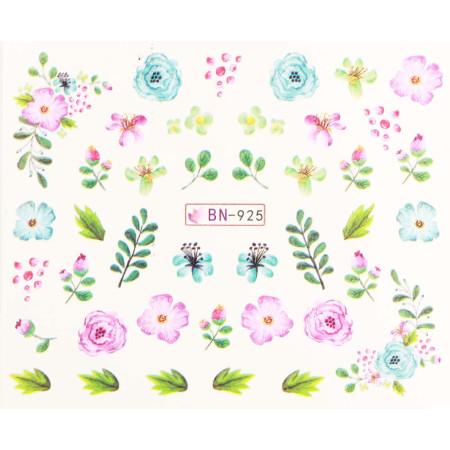 Vodonálepky s motívmi kvetov BN-925 NechtovyRAJ.sk - Daj svojim nechtom všetko, čo potrebujú