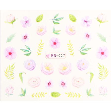 Vodonálepky s motívmi kvetov BN-927 NechtovyRAJ.sk - Daj svojim nechtom všetko, čo potrebujú