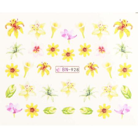 Vodonálepky s motívmi kvetov BN-928 NechtovyRAJ.sk - Daj svojim nechtom všetko, čo potrebujú