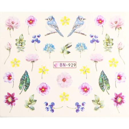 Vodonálepky s motívmi kvetov BN-929 NechtovyRAJ.sk - Daj svojim nechtom všetko, čo potrebujú