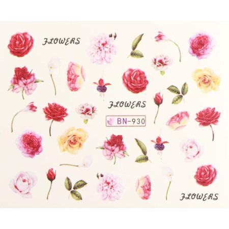 Vodonálepky s motívmi kvetov BN-930 NechtovyRAJ.sk - Daj svojim nechtom všetko, čo potrebujú