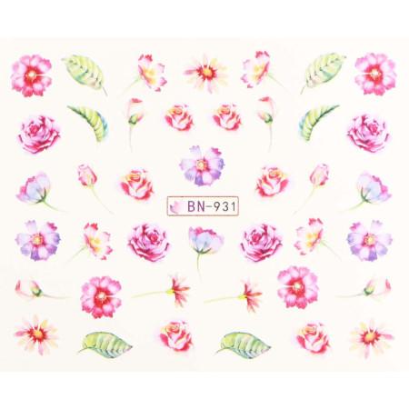 Vodonálepky s motívmi kvetov BN-931 NechtovyRAJ.sk - Daj svojim nechtom všetko, čo potrebujú