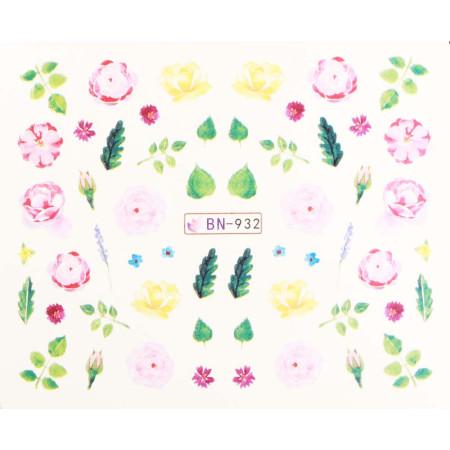 Vodonálepky s motívmi kvetov BN-932 NechtovyRAJ.sk - Daj svojim nechtom všetko, čo potrebujú