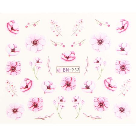 Vodonálepky s motívmi kvetov BN-933 NechtovyRAJ.sk - Daj svojim nechtom všetko, čo potrebujú