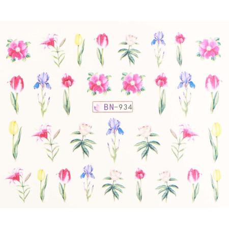 Vodonálepky s motívmi kvetov BN-934 NechtovyRAJ.sk - Daj svojim nechtom všetko, čo potrebujú