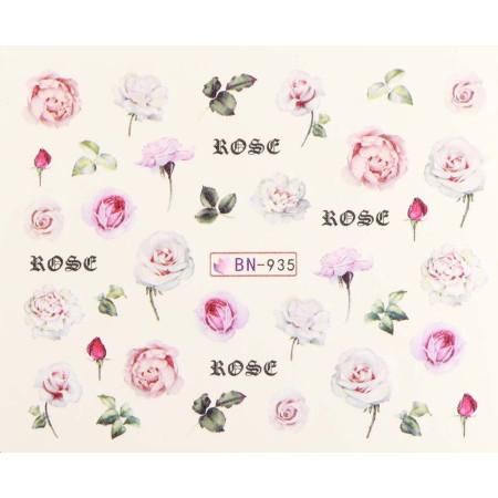 Vodonálepky s motívmi kvetov BN-935 NechtovyRAJ.sk - Daj svojim nechtom všetko, čo potrebujú