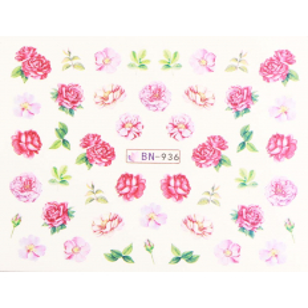 Vodonálepky s motívmi kvetov BN-936 NechtovyRAJ.sk - Daj svojim nechtom všetko, čo potrebujú