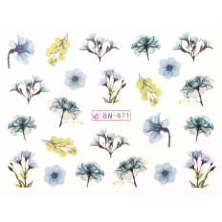 Vodonálepky s motívmi kvetov BN-871