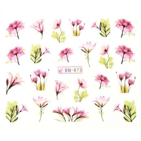 Vodonálepky s motívmi kvetov BN-873