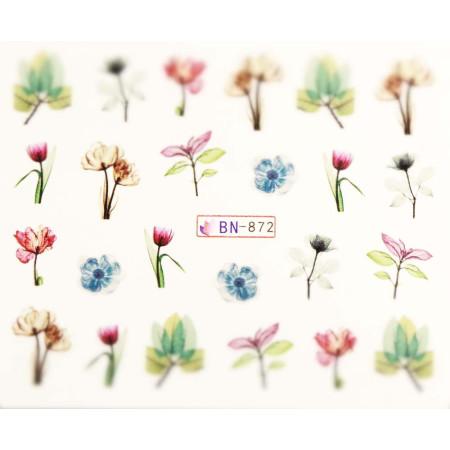 Vodonálepky s motívmi kvetov BN-872 NechtovyRAJ.sk - Daj svojim nechtom všetko, čo potrebujú