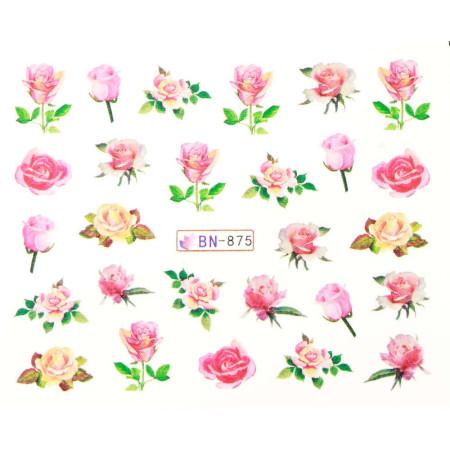 Vodonálepky s motívmi kvetov BN-875