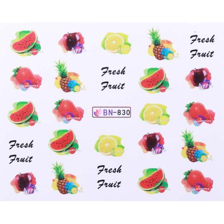 Vodonálepky s motívmi ovocia BN-830 NechtovyRAJ.sk - Daj svojim nechtom všetko, čo potrebujú