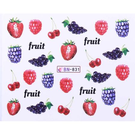 Vodonálepky s motívmi ovocia BN-831