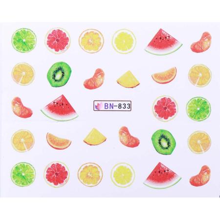 Vodonálepky s motívmi ovocia BN-833 NechtovyRAJ.sk - Daj svojim nechtom všetko, čo potrebujú