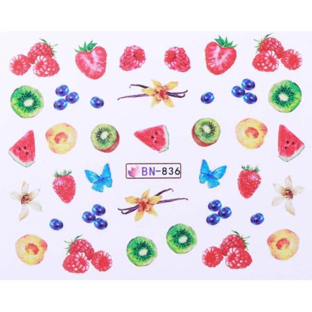 Vodonálepky s motívmi ovocia BN-836