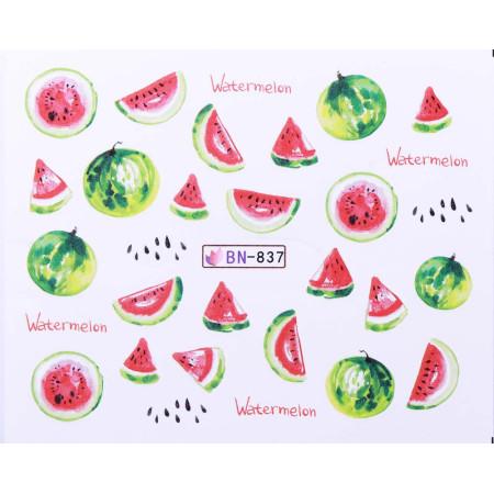 Vodonálepky s motívmi ovocia BN-837