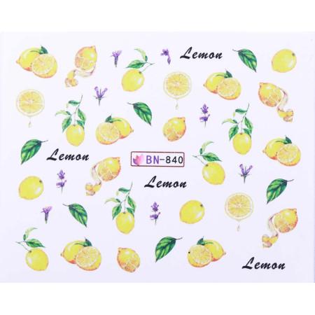 Vodonálepky s motívmi ovocia BN-840 NechtovyRAJ.sk - Daj svojim nechtom všetko, čo potrebujú