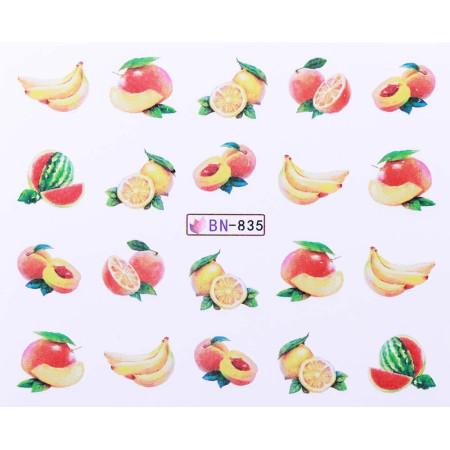 Vodonálepky s motívmi ovocia BN-835 NechtovyRAJ.sk - Daj svojim nechtom všetko, čo potrebujú